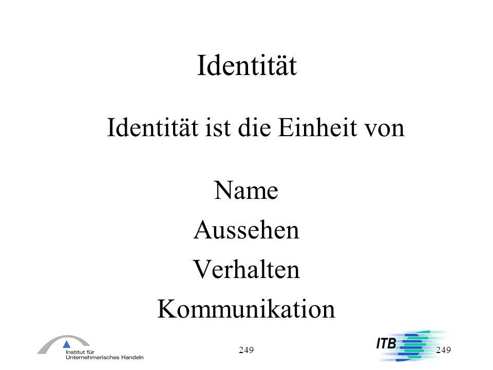 Identität ist die Einheit von