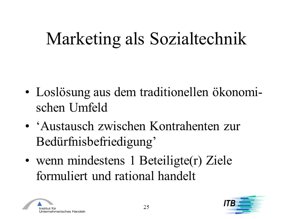 Marketing als Sozialtechnik