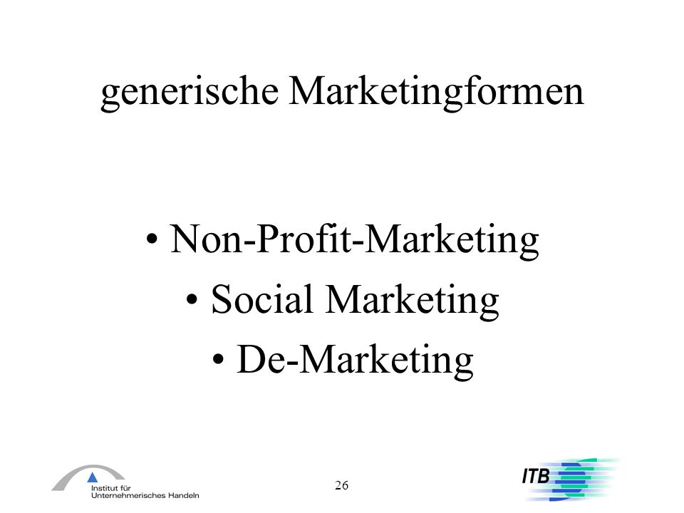 generische Marketingformen