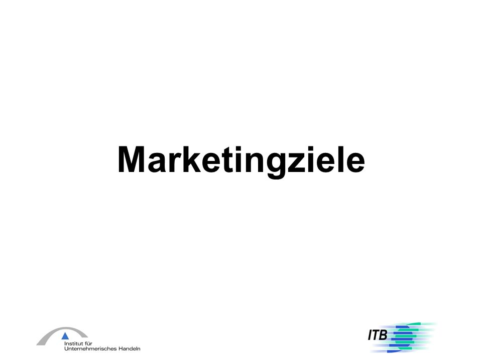Marketingziele