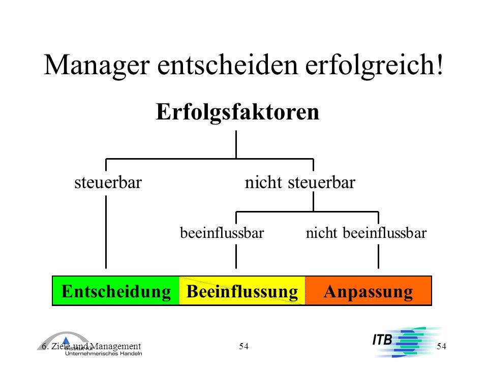 Manager entscheiden erfolgreich!