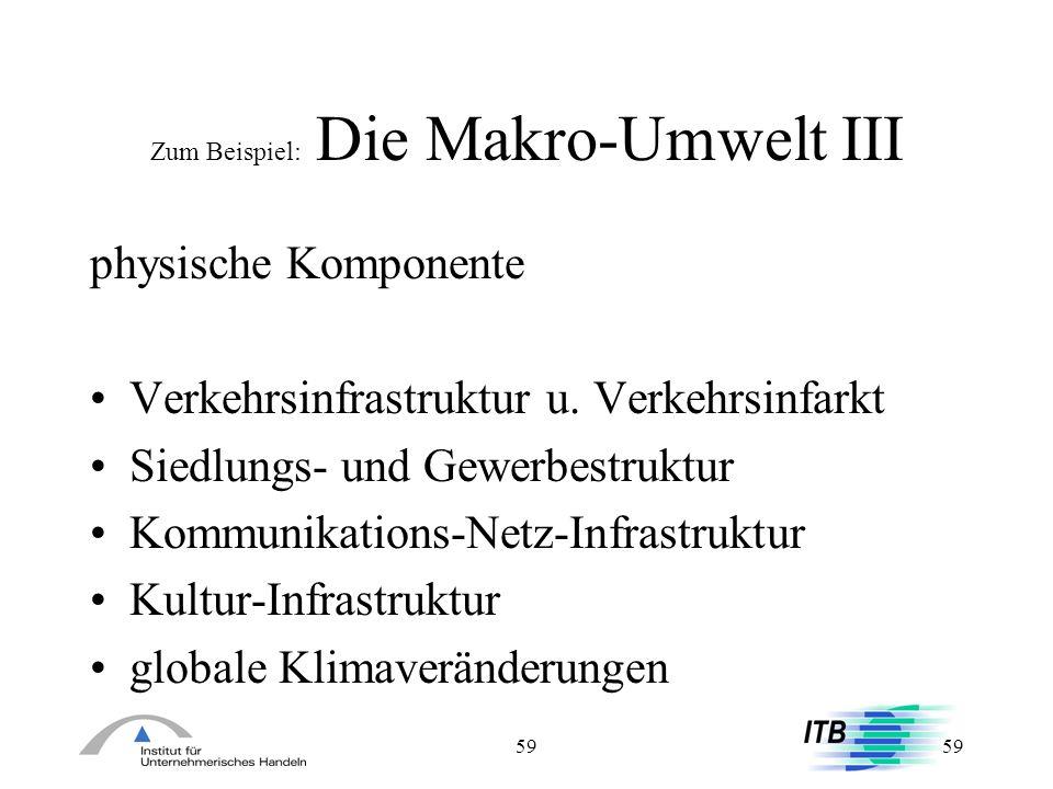Zum Beispiel: Die Makro-Umwelt III