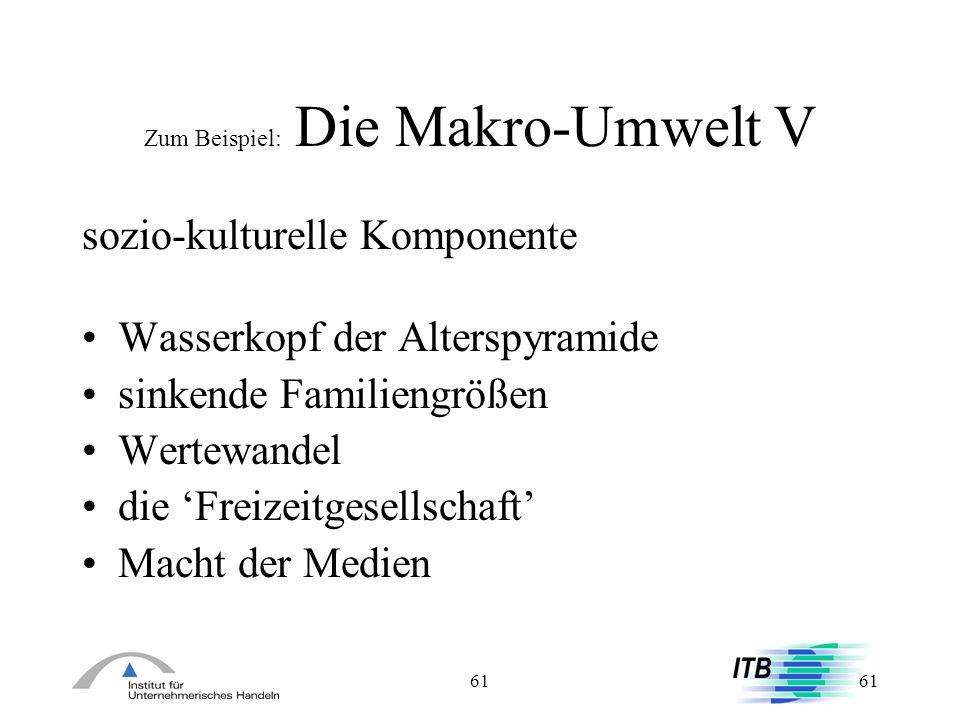 Zum Beispiel: Die Makro-Umwelt V