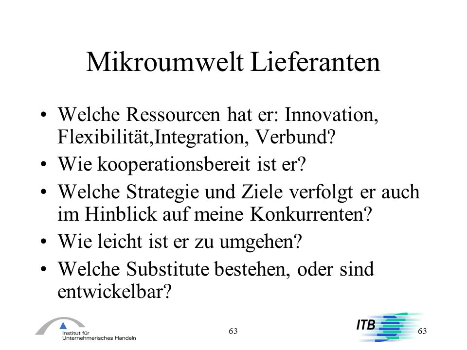 Mikroumwelt Lieferanten
