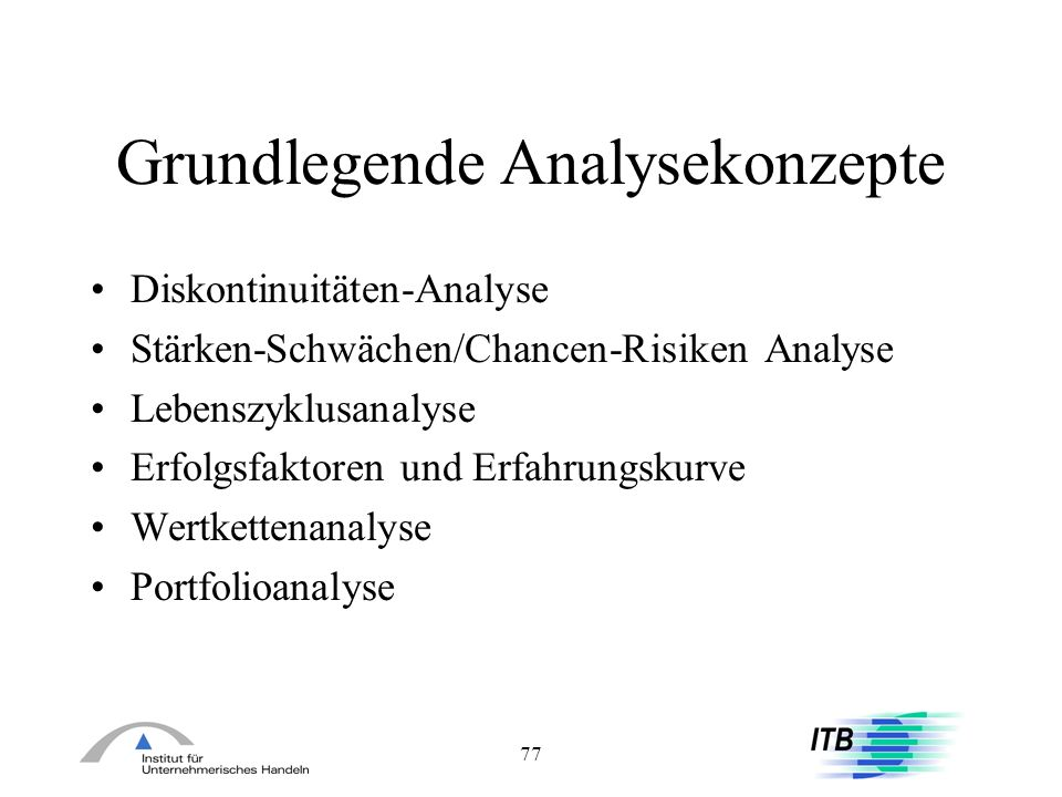Grundlegende Analysekonzepte