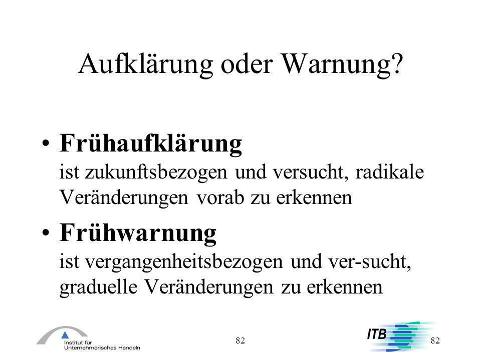 Aufklärung oder Warnung