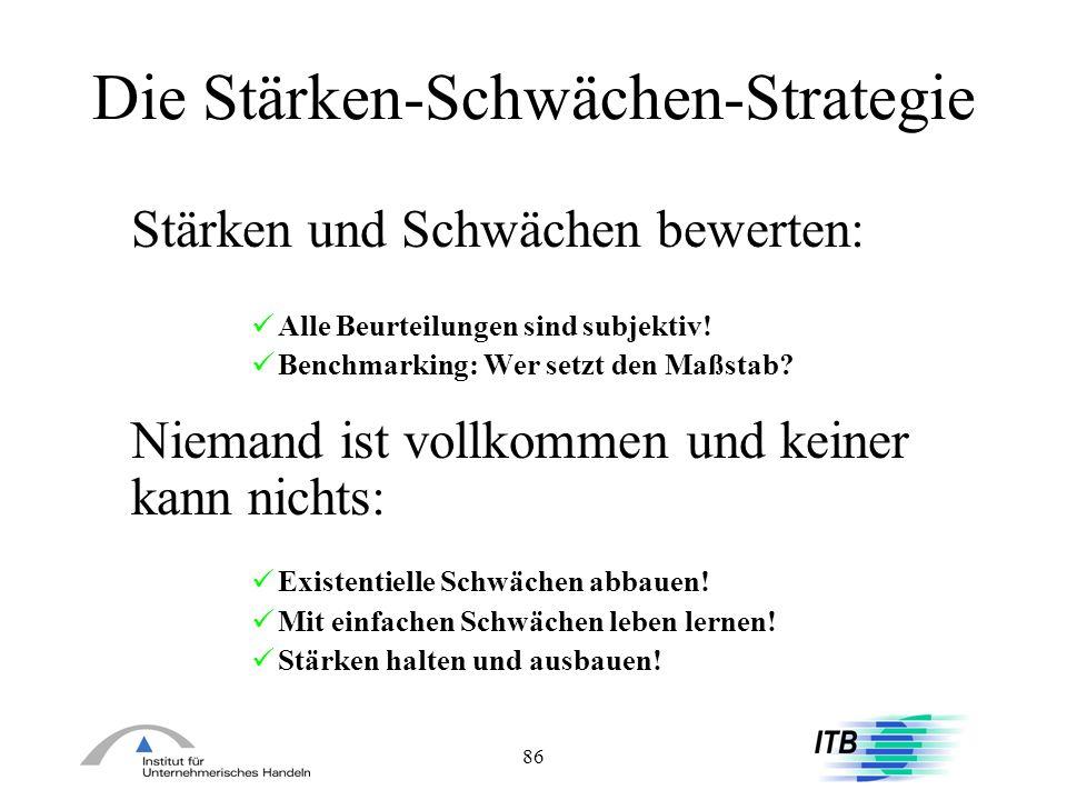 Die Stärken-Schwächen-Strategie