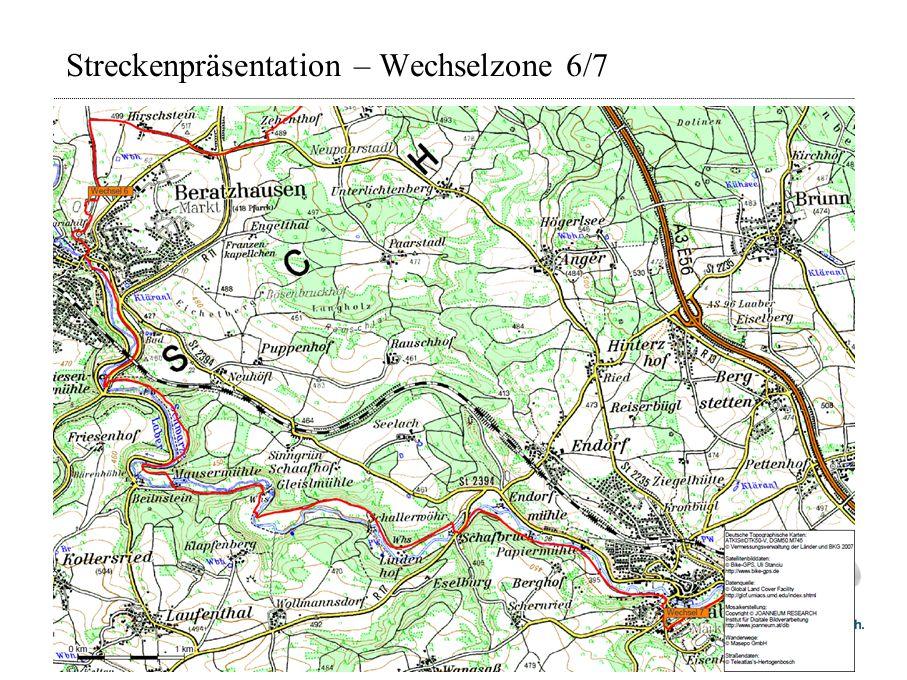 Streckenpräsentation – Wechselzone 6/7