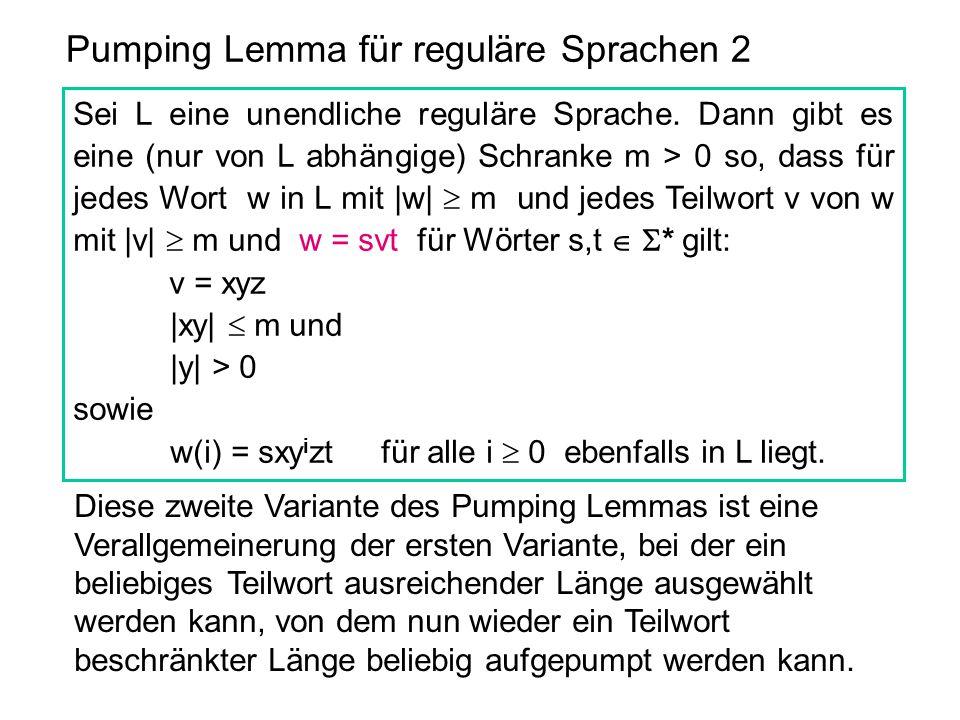 Pumping Lemma für reguläre Sprachen 2