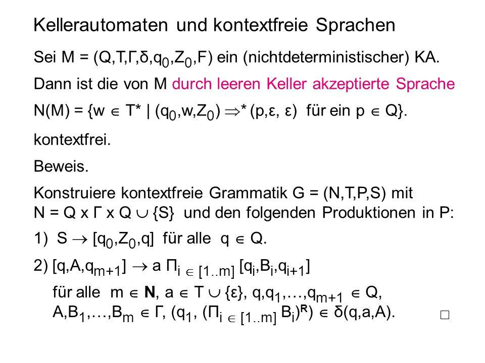 Kellerautomaten und kontextfreie Sprachen