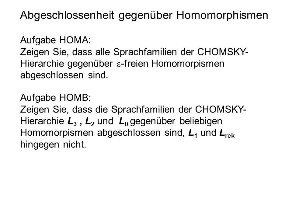 Abgeschlossenheit gegenüber Homomorphismen