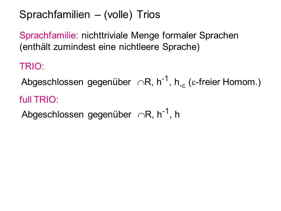 Sprachfamilien – (volle) Trios