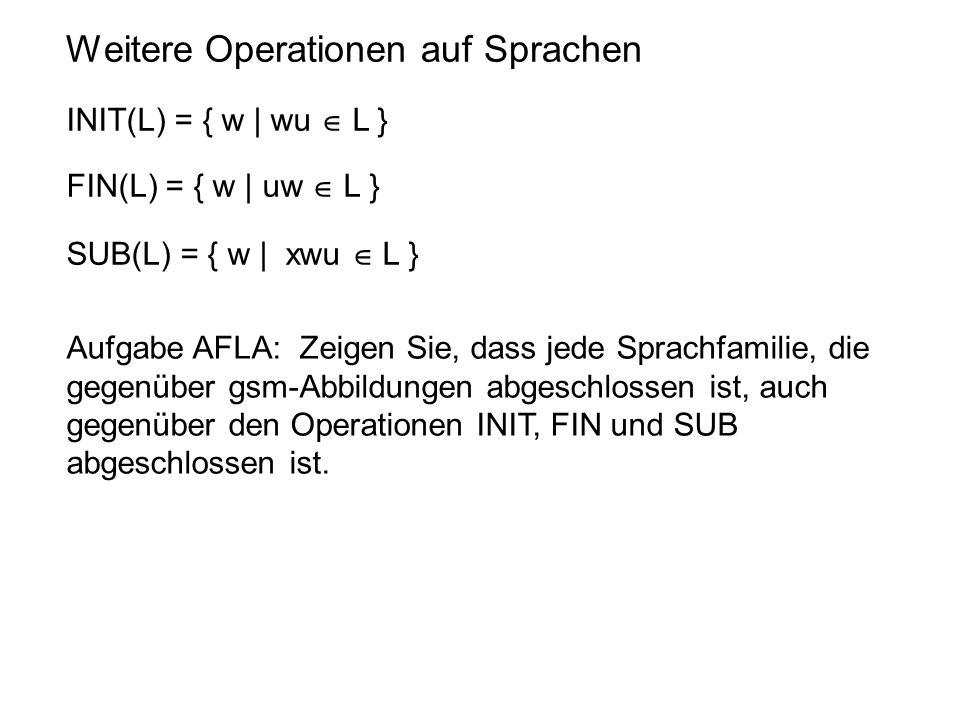 Weitere Operationen auf Sprachen