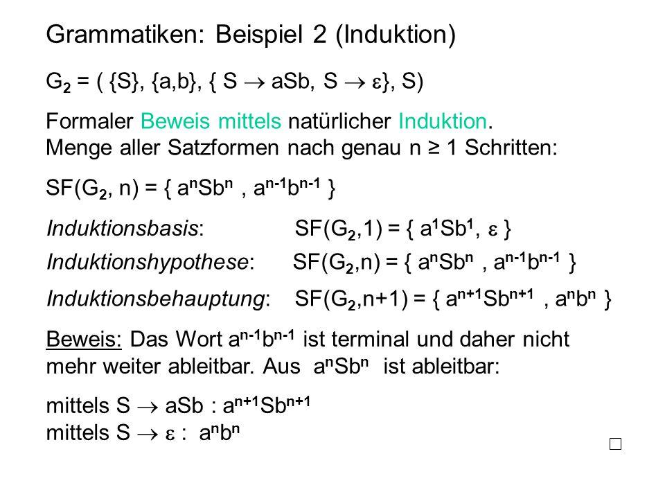 Grammatiken: Beispiel 2 (Induktion)