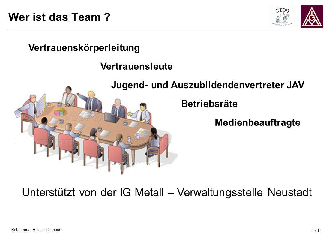 Unterstützt von der IG Metall – Verwaltungsstelle Neustadt