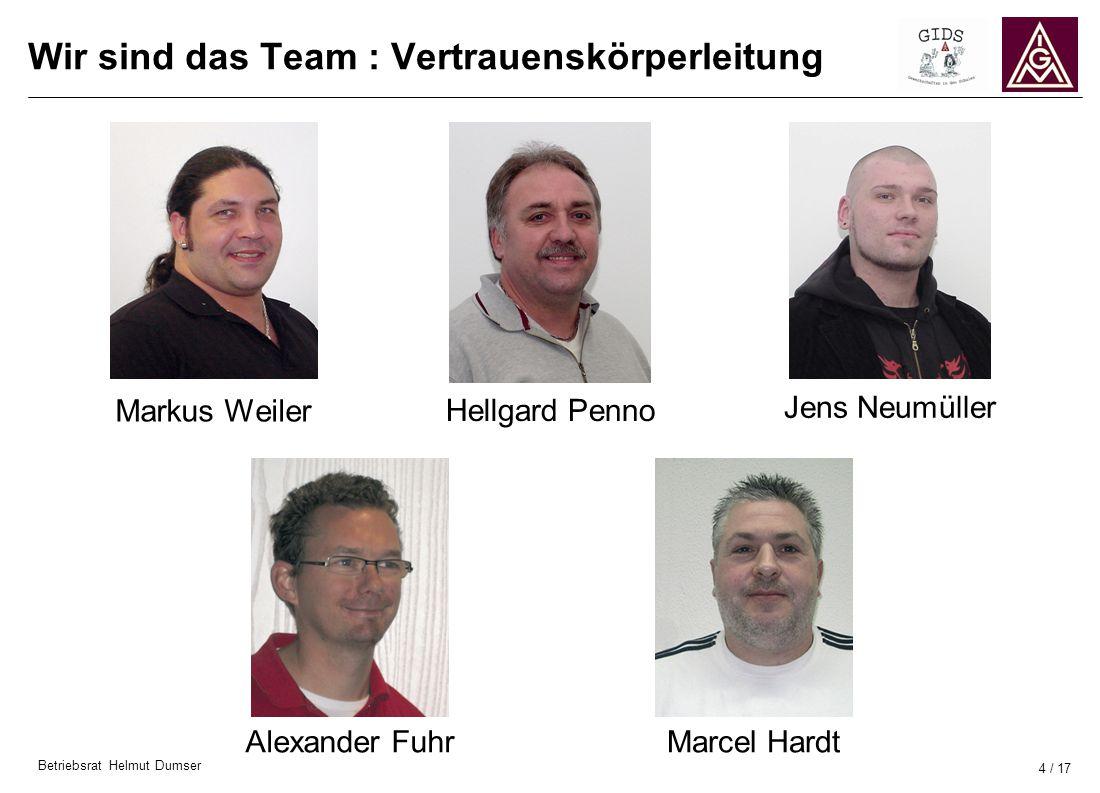 Wir sind das Team : Vertrauenskörperleitung