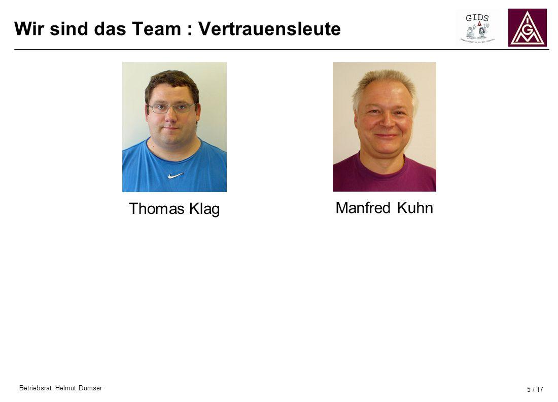 Wir sind das Team : Vertrauensleute