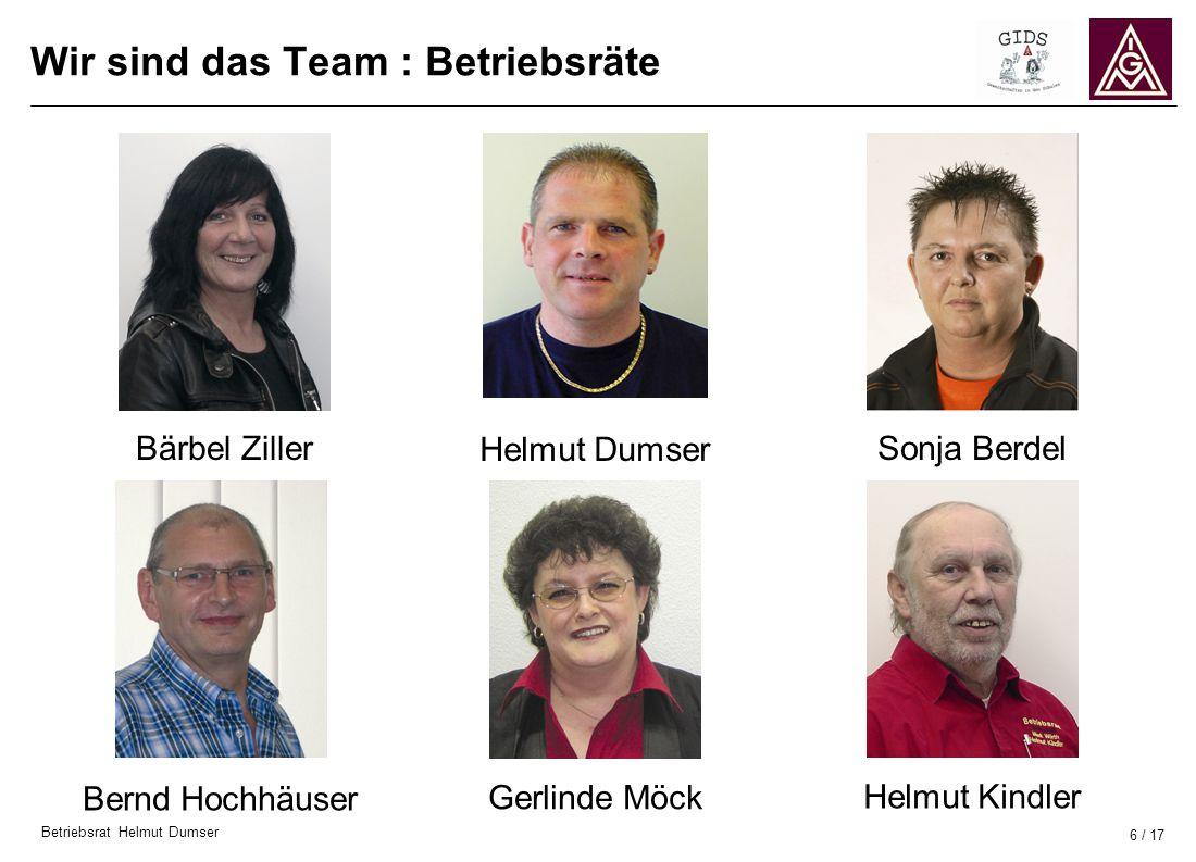 Wir sind das Team : Betriebsräte