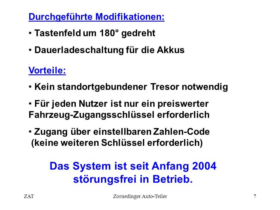 Das System ist seit Anfang 2004 störungsfrei in Betrieb.