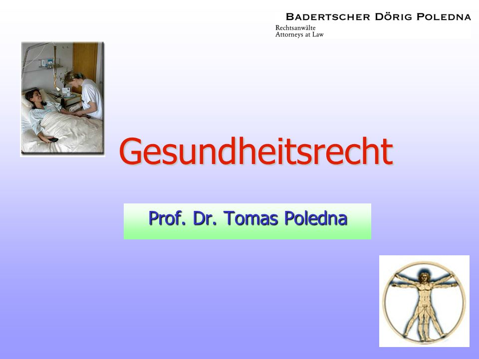 Gesundheitsrecht Prof. Dr. Tomas Poledna