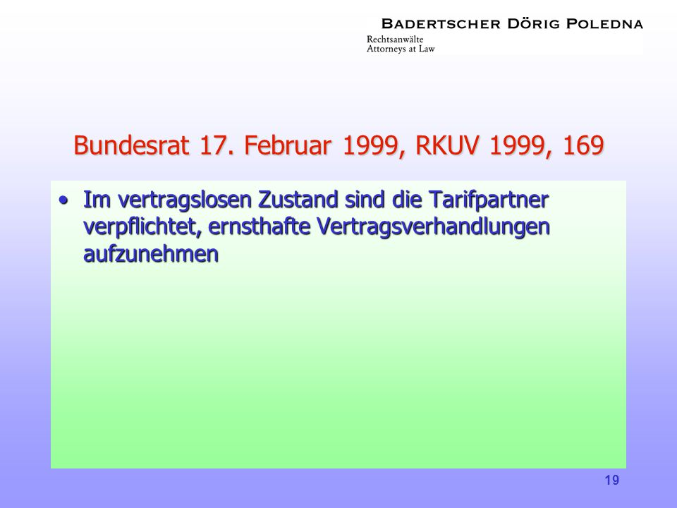 Bundesrat 17. Februar 1999, RKUV 1999, 169