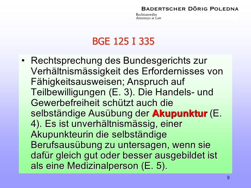 BGE 125 I 335