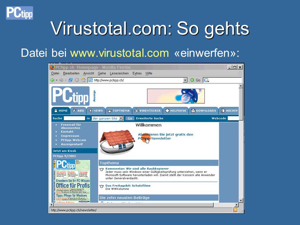 Virustotal.com: So gehts