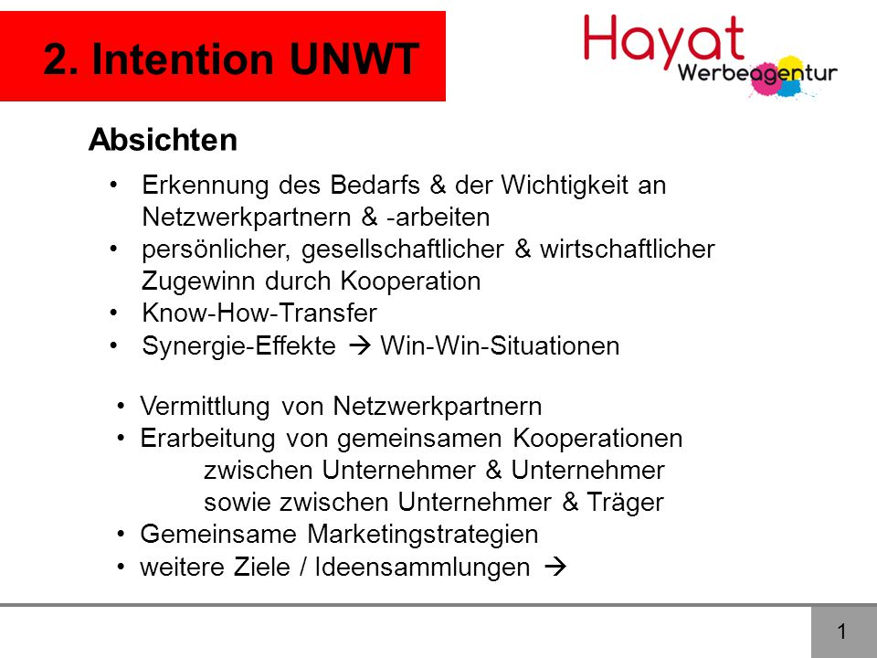 2. Intention UNWT Absichten