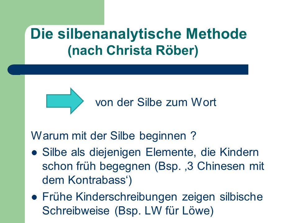 Die silbenanalytische Methode (nach Christa Röber)