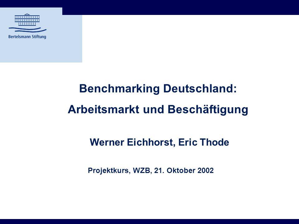 Benchmarking Deutschland: Arbeitsmarkt und Beschäftigung