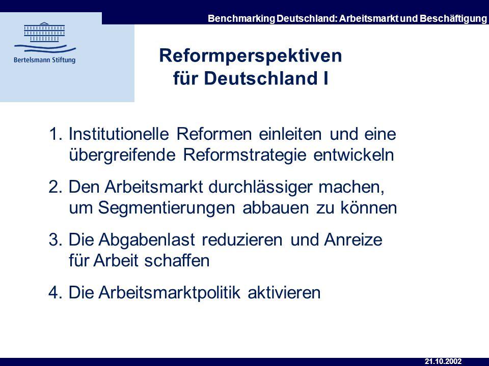 Reformperspektiven für Deutschland I