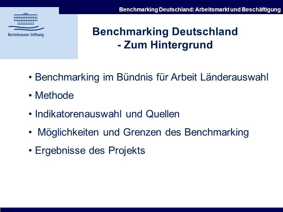 Benchmarking Deutschland - Zum Hintergrund