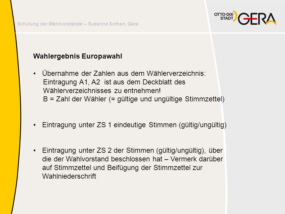Wahlergebnis Europawahl