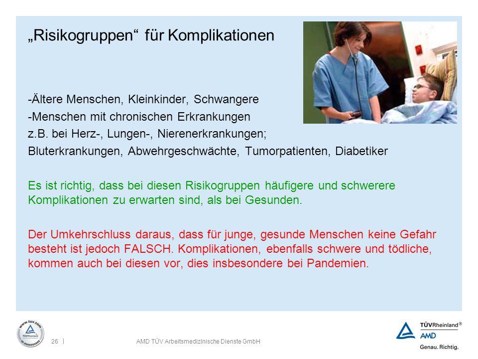 """""""Risikogruppen für Komplikationen"""