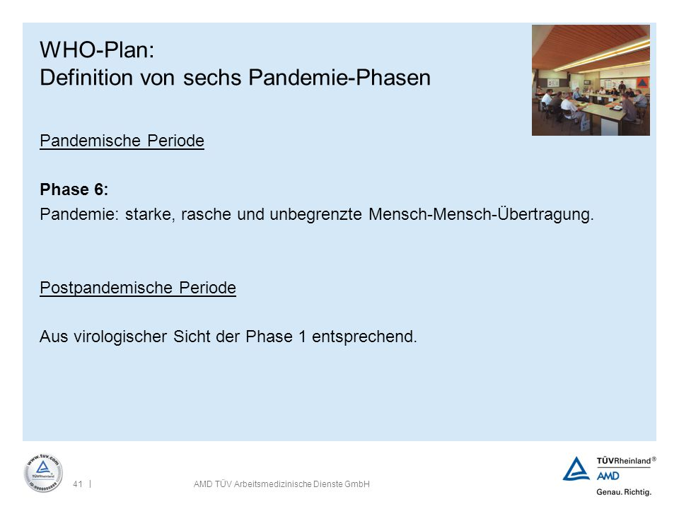 WHO-Plan: Definition von sechs Pandemie-Phasen