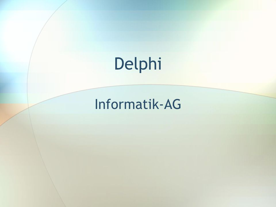 Delphi Informatik-AG