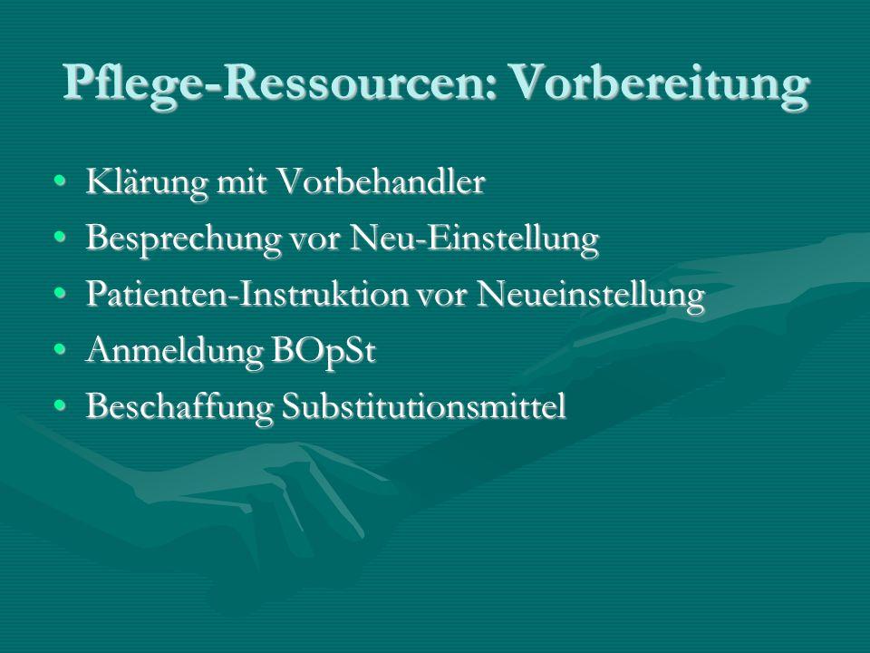 Pflege-Ressourcen: Vorbereitung