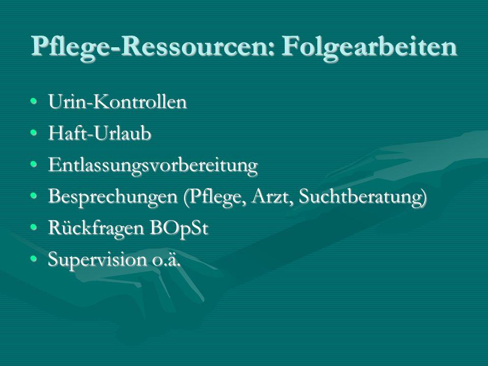Pflege-Ressourcen: Folgearbeiten