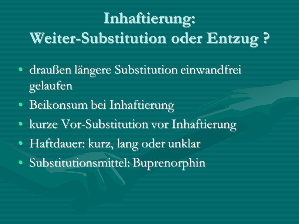 Inhaftierung: Weiter-Substitution oder Entzug
