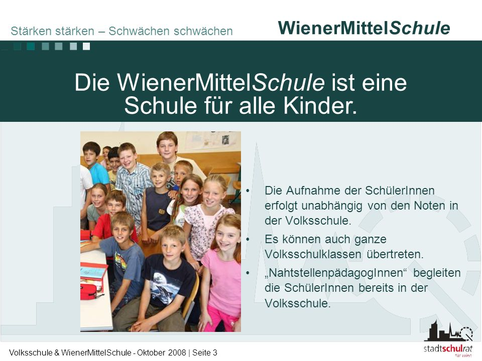 Die WienerMittelSchule ist eine Schule für alle Kinder.