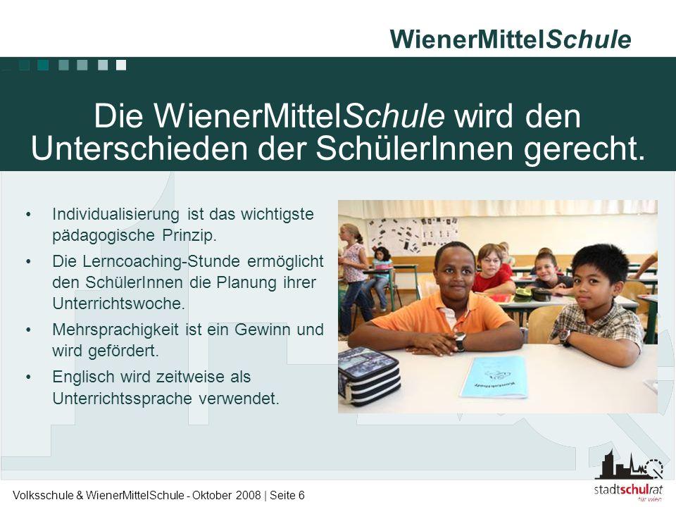 Die WienerMittelSchule wird den Unterschieden der SchülerInnen gerecht.