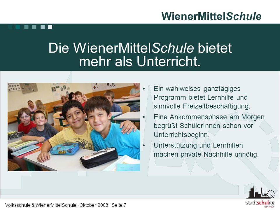 Die WienerMittelSchule bietet mehr als Unterricht.
