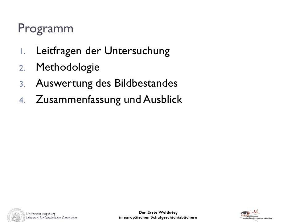Programm Leitfragen der Untersuchung Methodologie