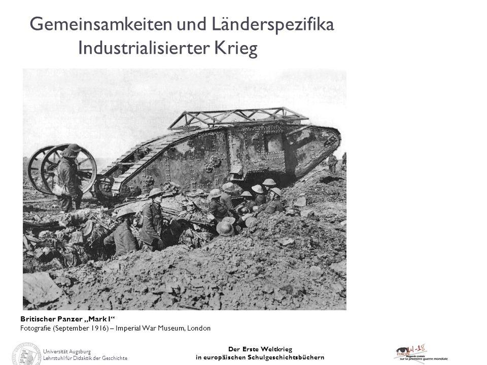 Gemeinsamkeiten und Länderspezifika Industrialisierter Krieg