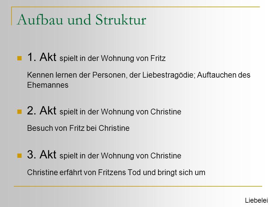 Aufbau und Struktur 1. Akt spielt in der Wohnung von Fritz