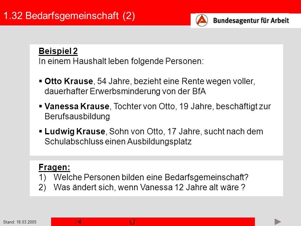 1.32 Bedarfsgemeinschaft (2)