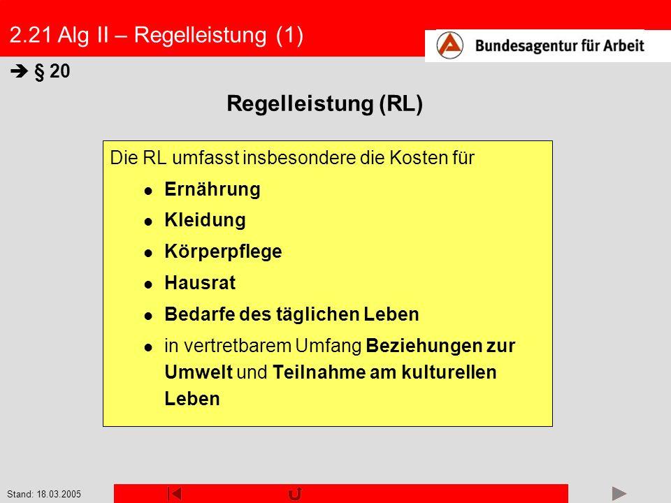 2.21 Alg II – Regelleistung (1)