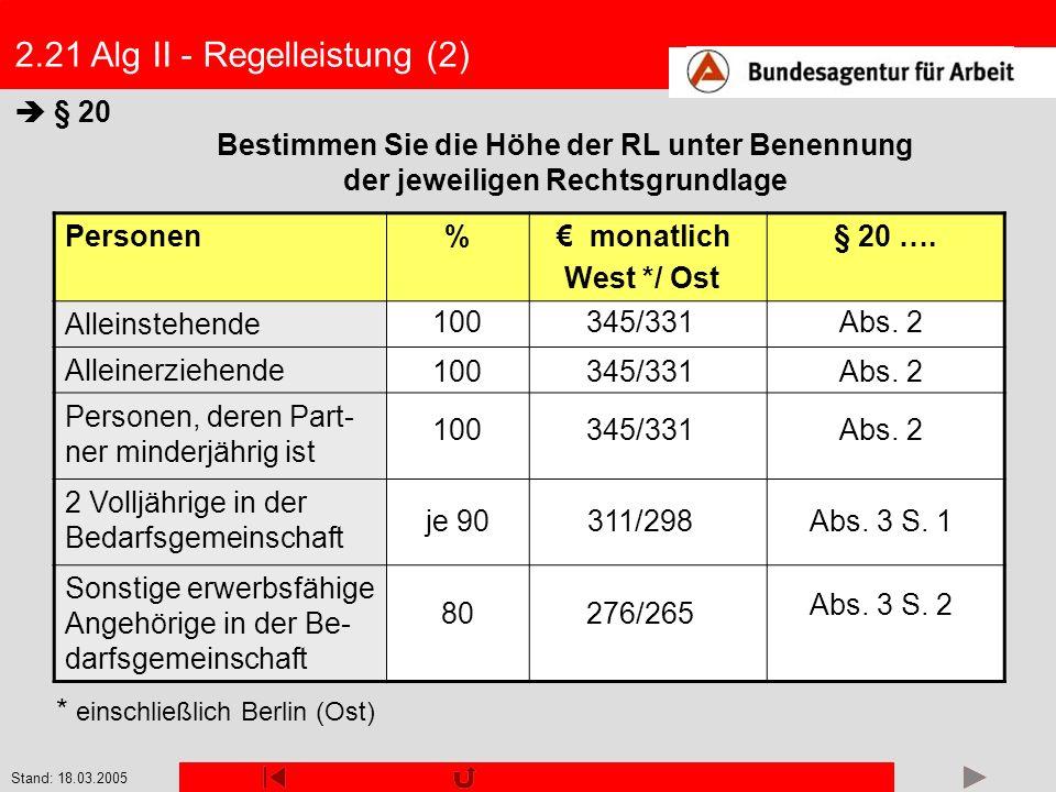 2.21 Alg II - Regelleistung (2)