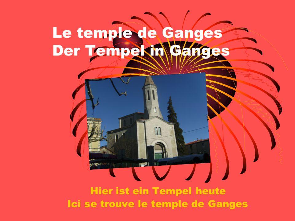 Le temple de Ganges Der Tempel in Ganges