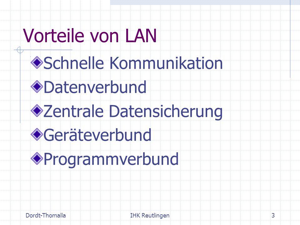 Vorteile von LAN Schnelle Kommunikation Datenverbund